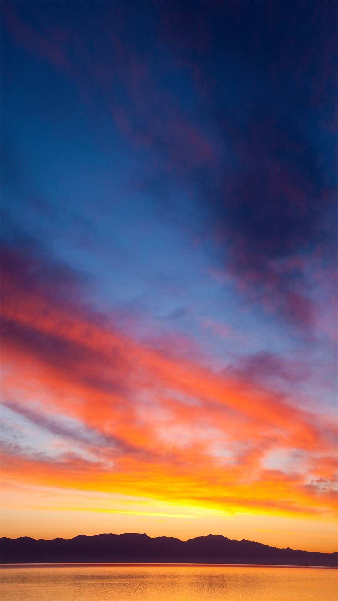 Sunset Sunlight Clouds iPhone Wallpaper