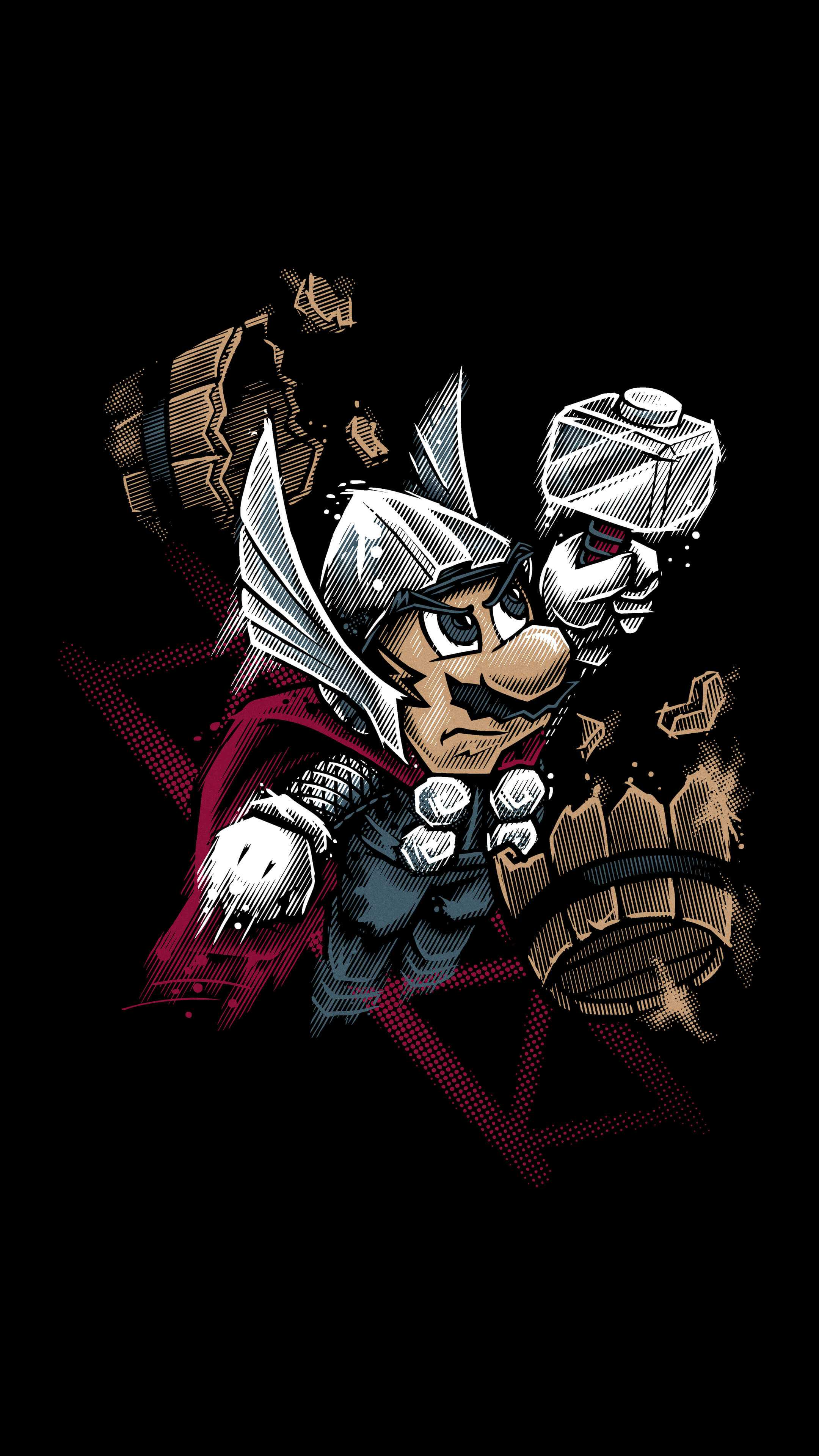 Super Mario Thor iPhone Wallpaper