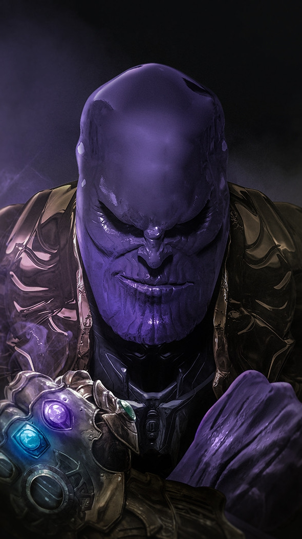 Thanos and Infinity Gauntlet iPhone Wallpaper