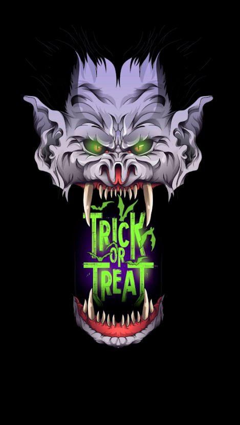 Trick or Treet Halloween iPhone Wallpaper
