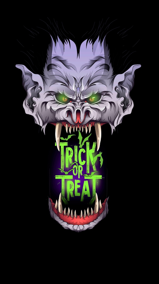 Trick or Treet Halloween iPhone Wallpaper