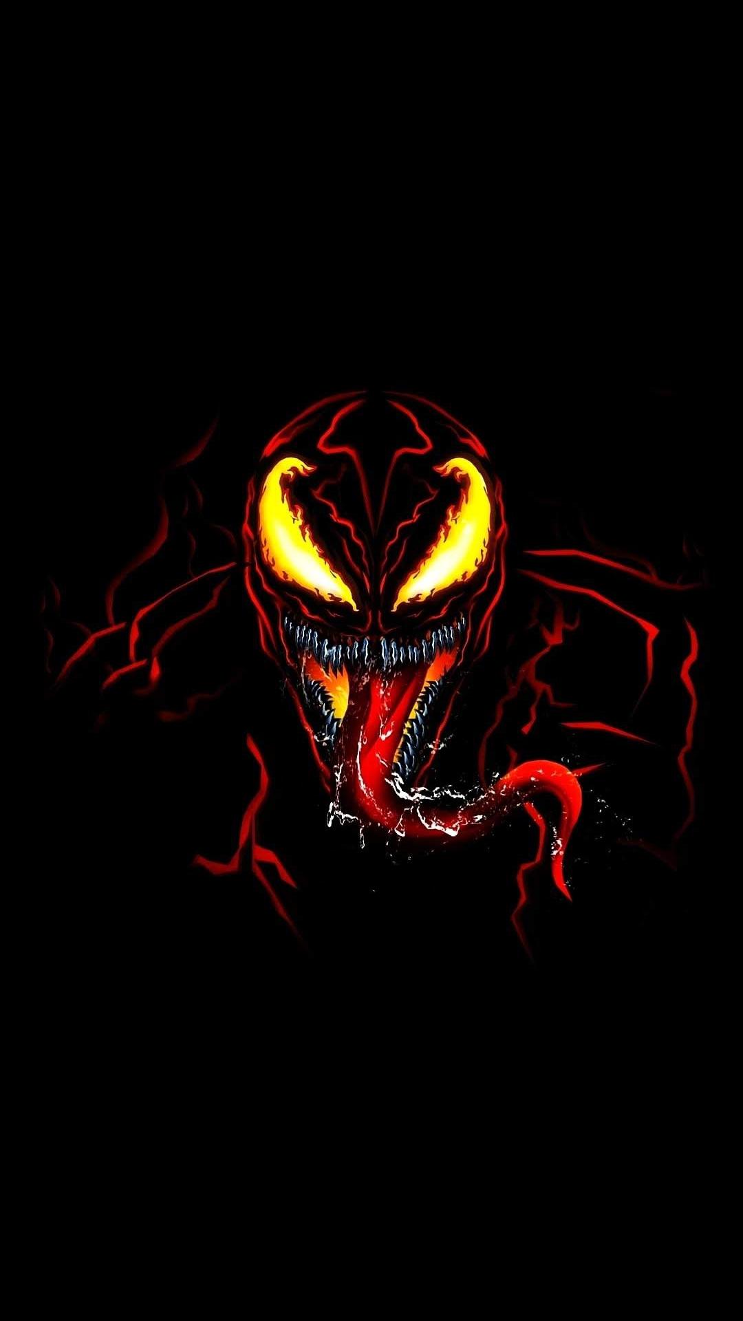 Venom Red iPhone Wallpaper