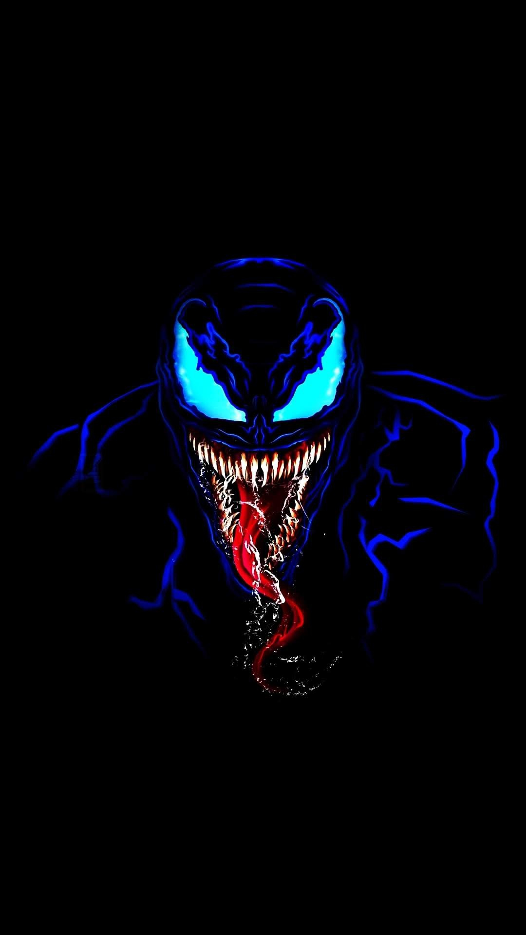 Venom in Dark iPhone Wallpaper