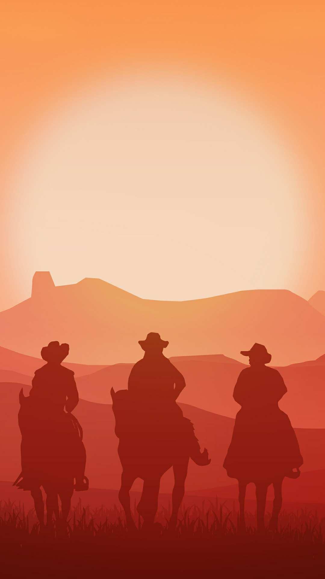 Vintage Cowboys iPhone Wallpaper