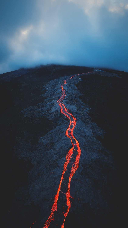 Volcano Lava iPhone Wallpaper