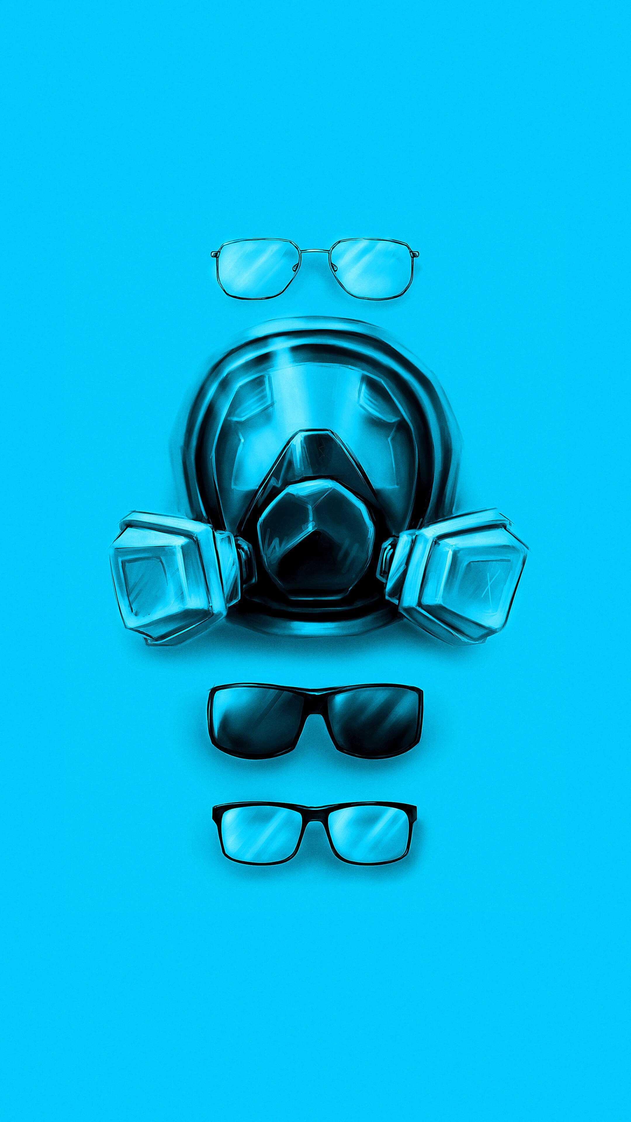 Walter White Glasses Evolution Breaking Bad iPhone Wallpaper