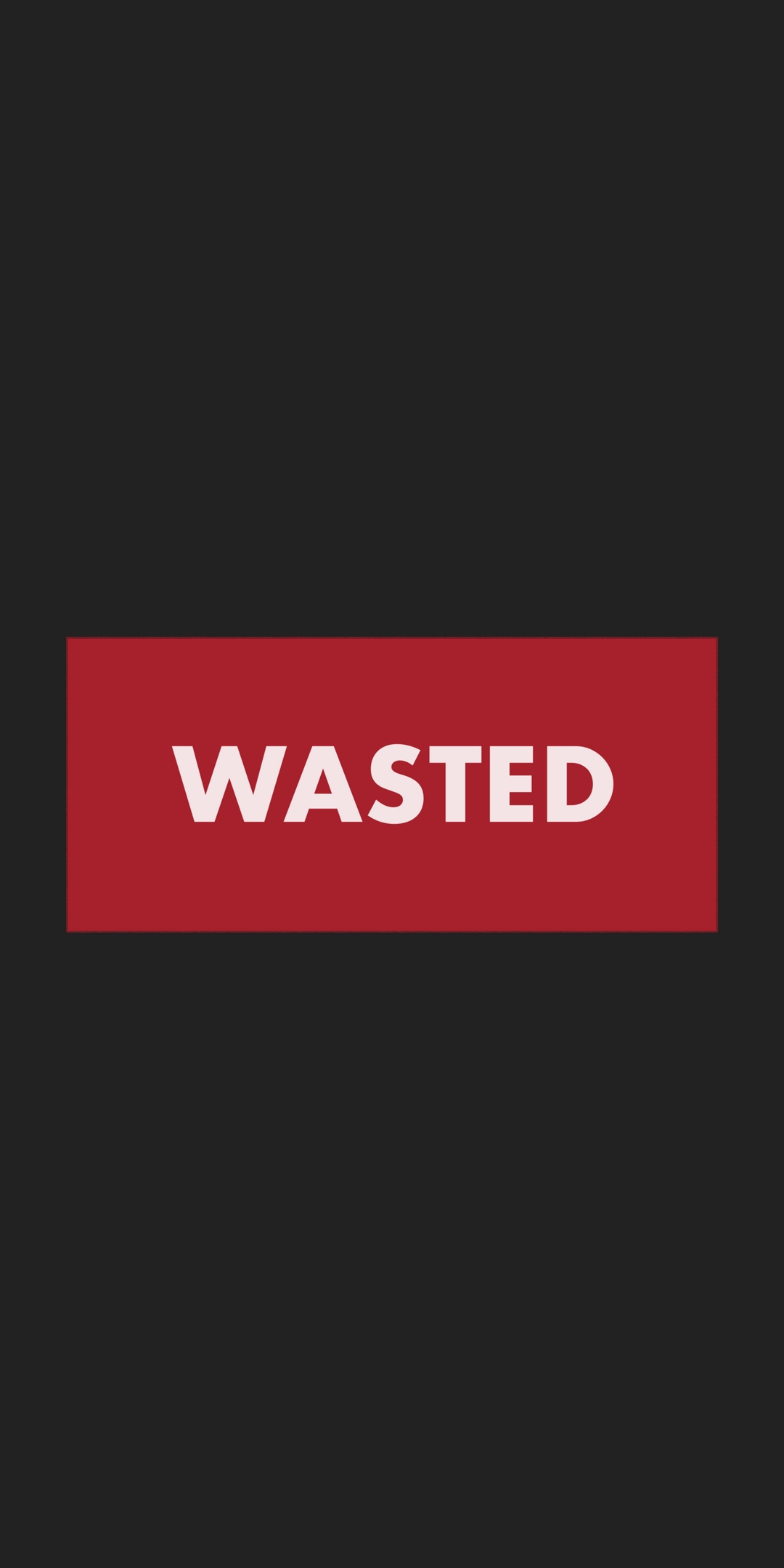 Wasted iPhone Wallpaper