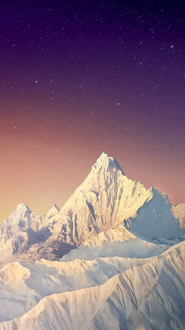 Winter Snow Mountains Nature iPhone Wallpaper