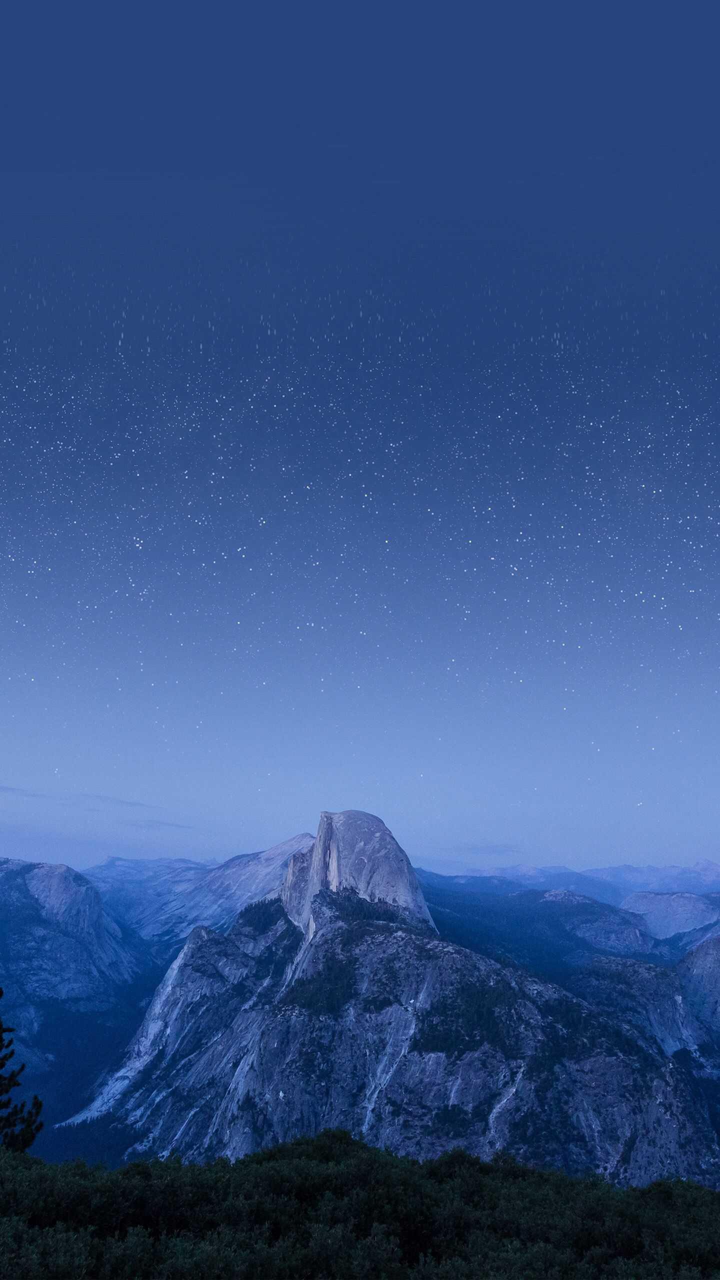 Yosemite Mountain Night Stars iPhone Wallpaper
