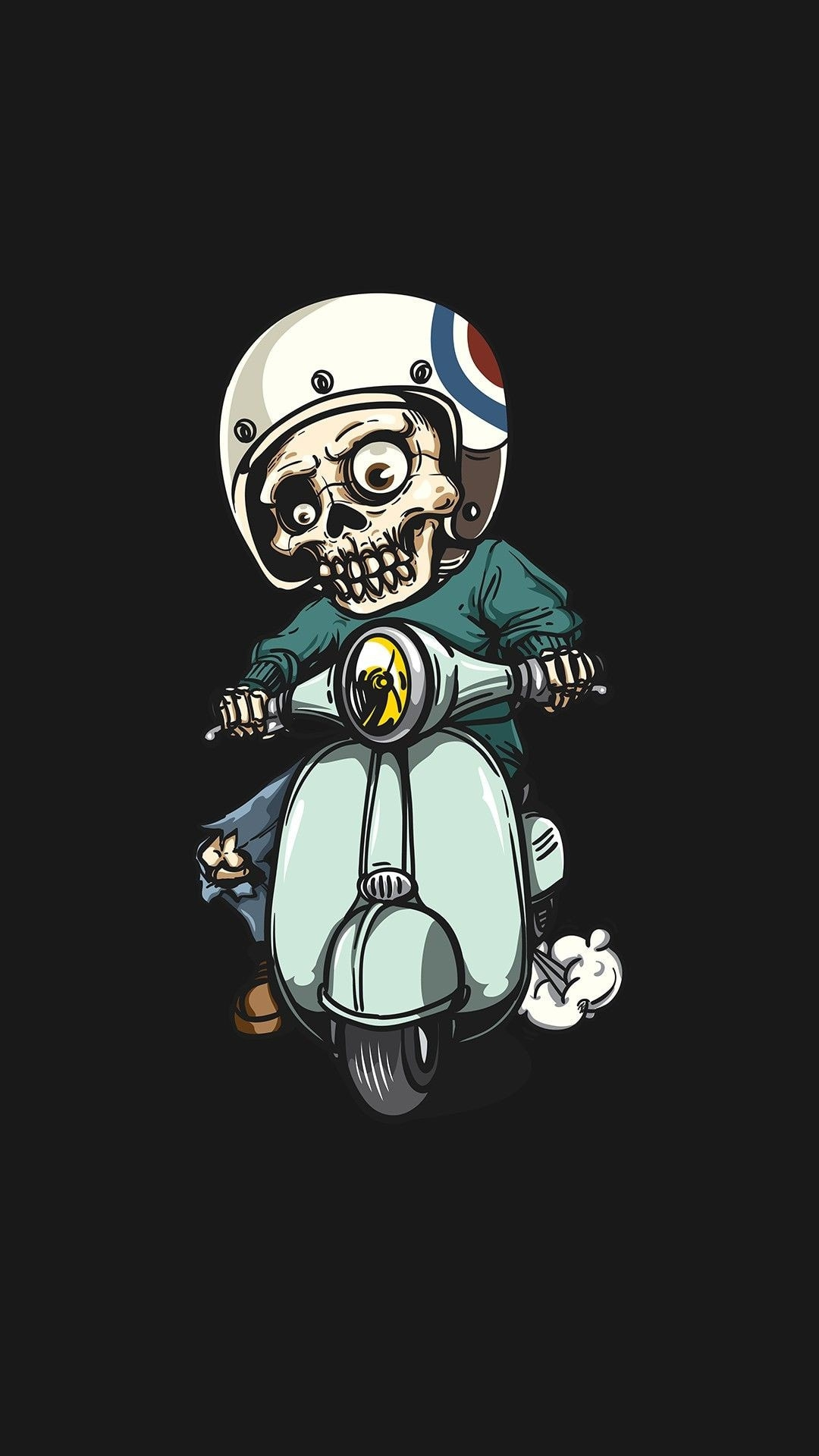 Zombie on Scooter iPhone Wallpaper