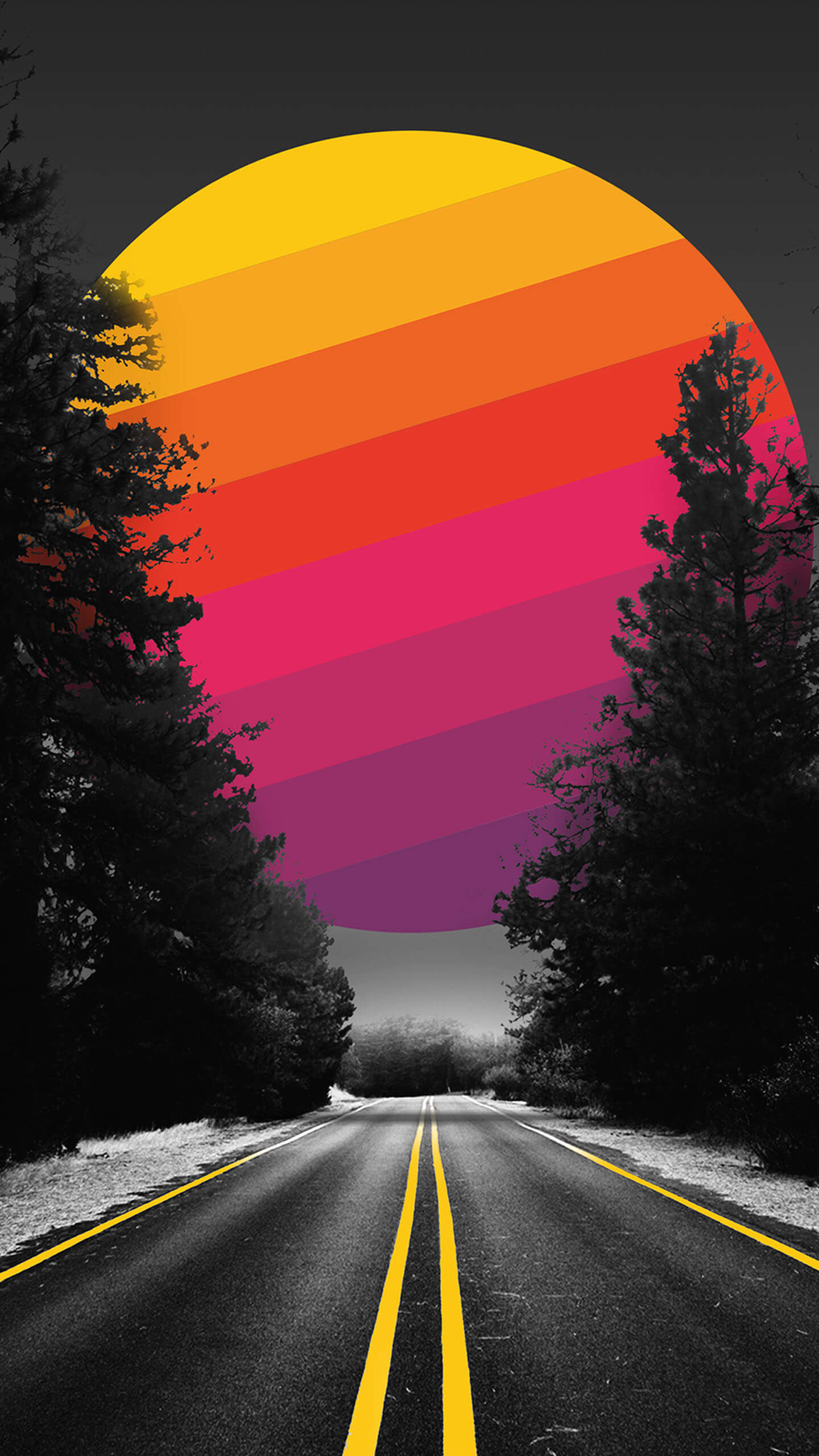 Adventure Road iPhone Wallpaper