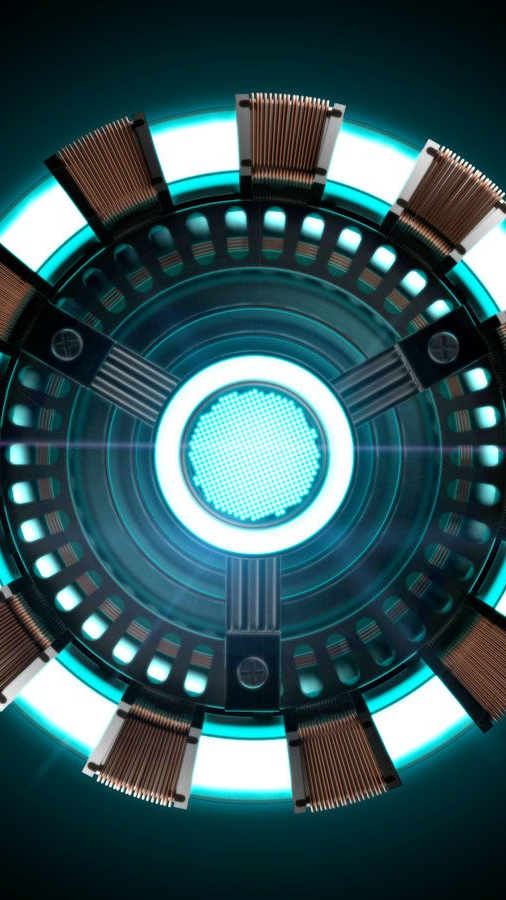 Arc Reactor Iron Man Armor iPhone Wallpaper