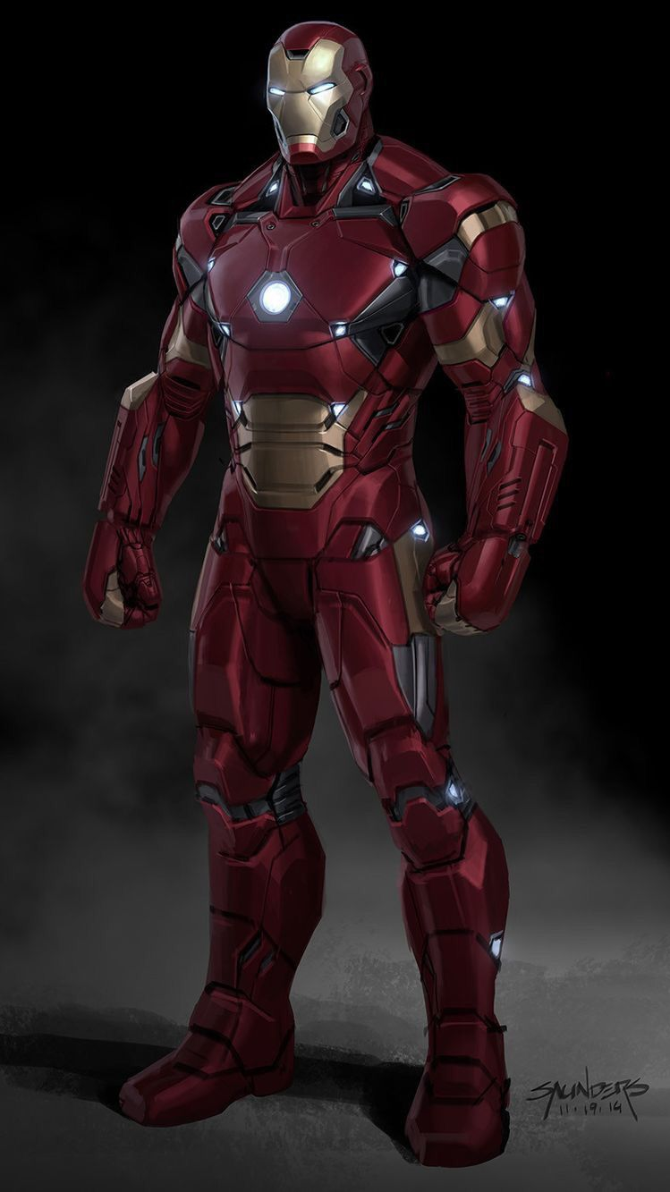 Avengers End Game Armor Iron Man iPhone Wallpaper