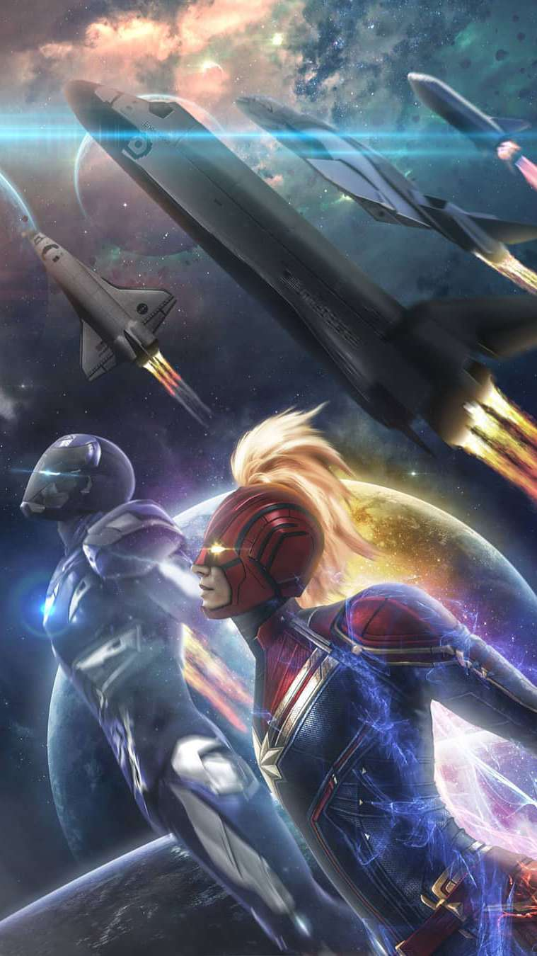 Avengers Endgame Iron Man Rescue iPhone Wallpaper