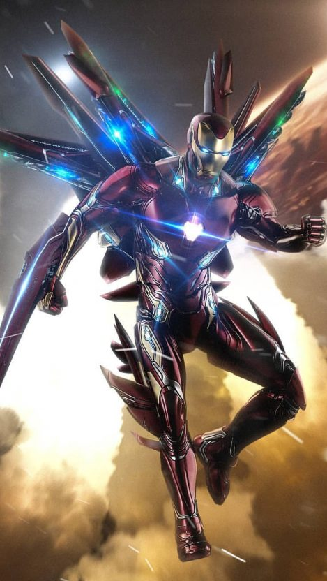 Avengers Endgame Iron Man Suit iPhone Wallpaper