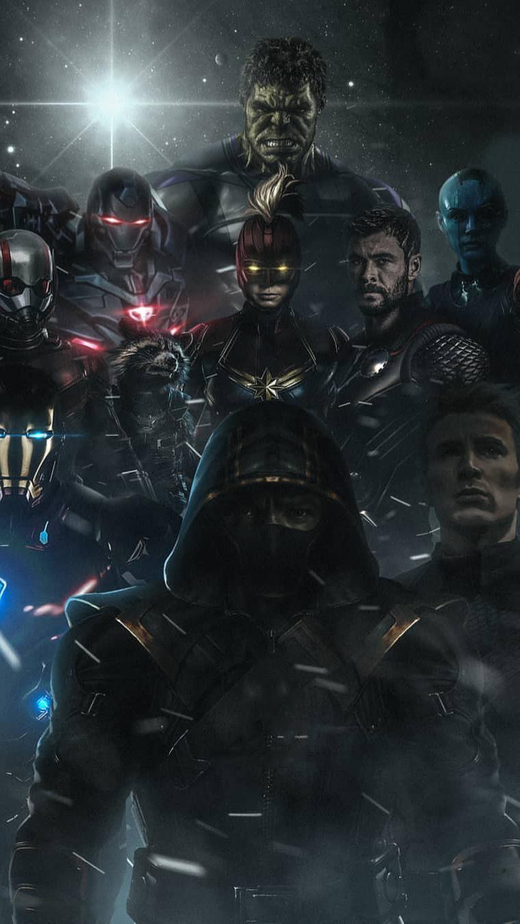 Avengers Endgame Poster Art iPhone Wallpaper