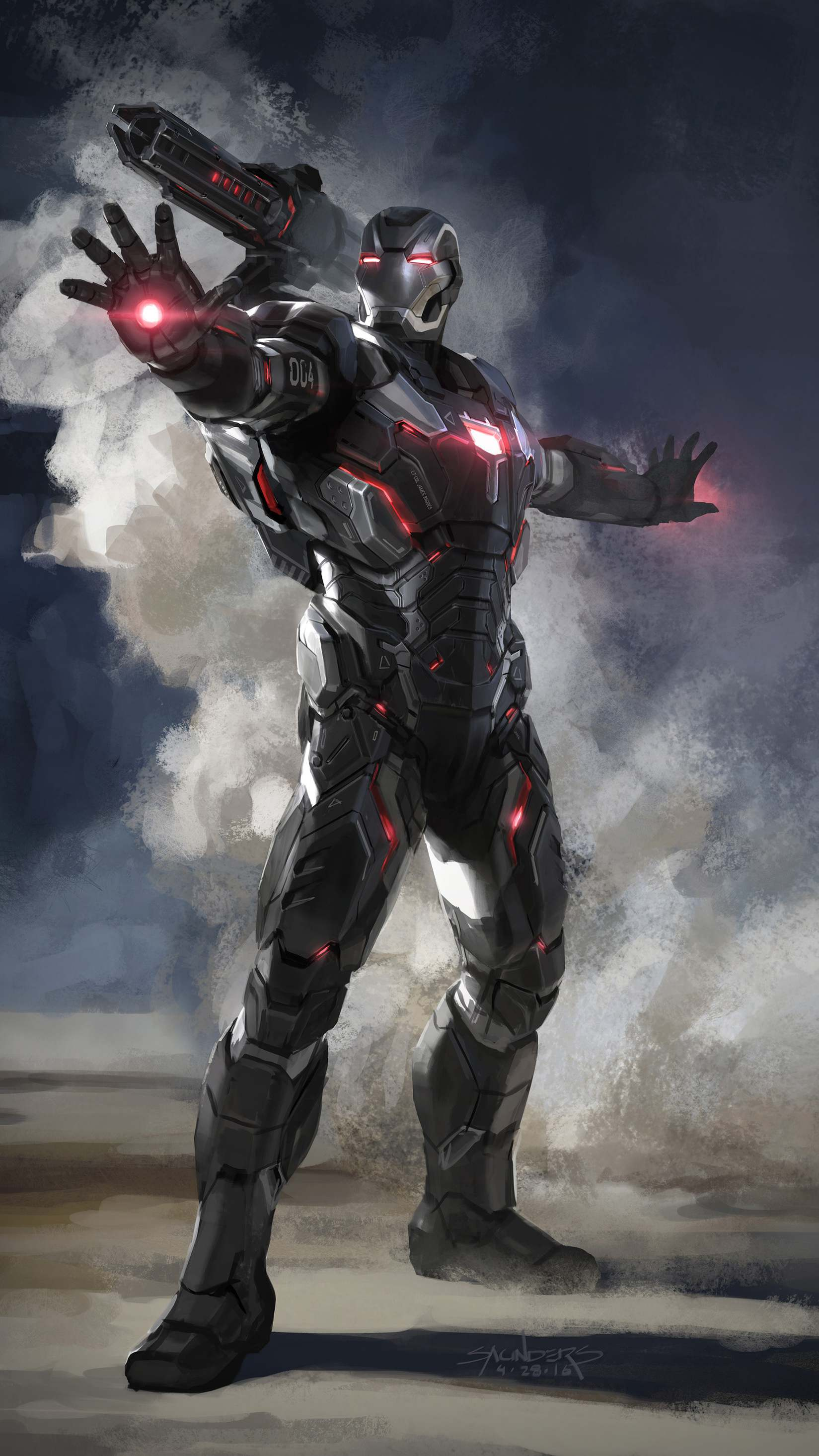 Avengers Endgame War Machine Armor iPhone Wallpaper