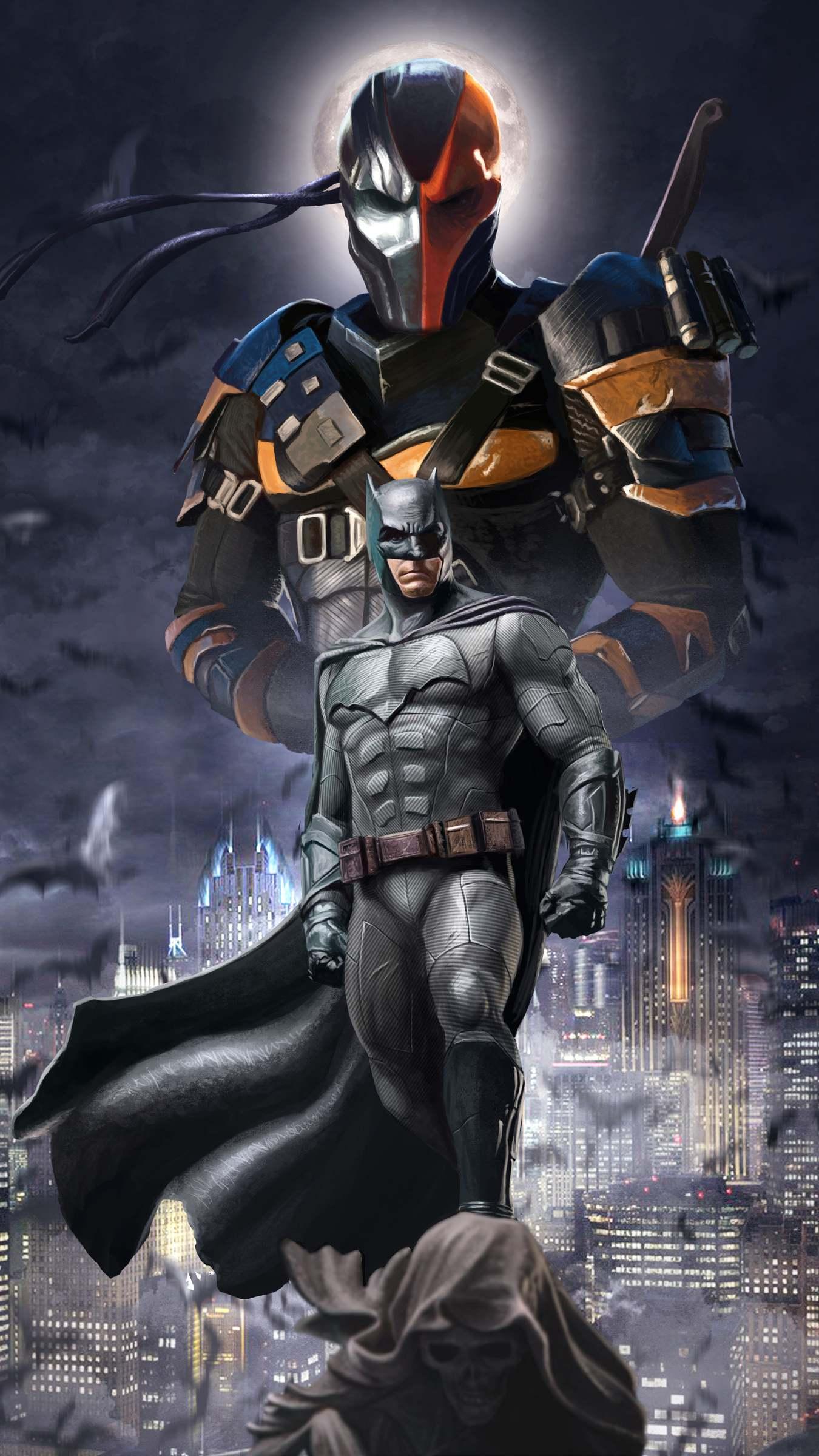 Batman and Death Stroke iPhone Wallpaper