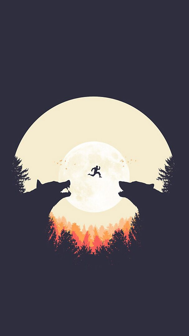 Bear Forest iPhone Wallpaper