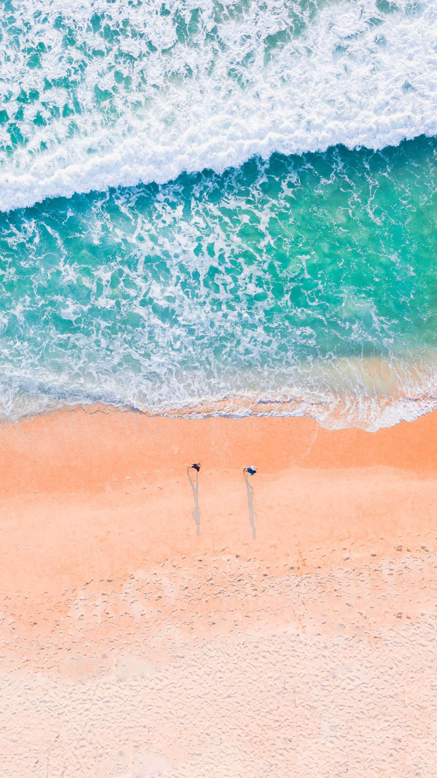 Beautiful Beach Aerial View iPhone Wallpaper