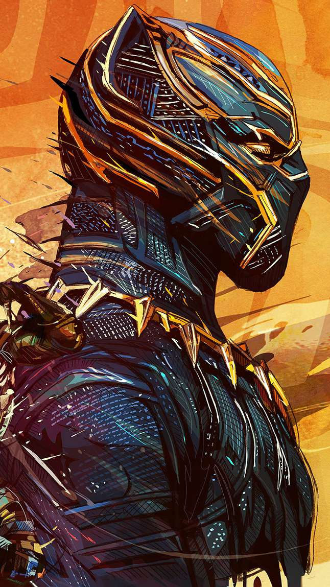 Black Panther 2 Art iPhone Wallpaper