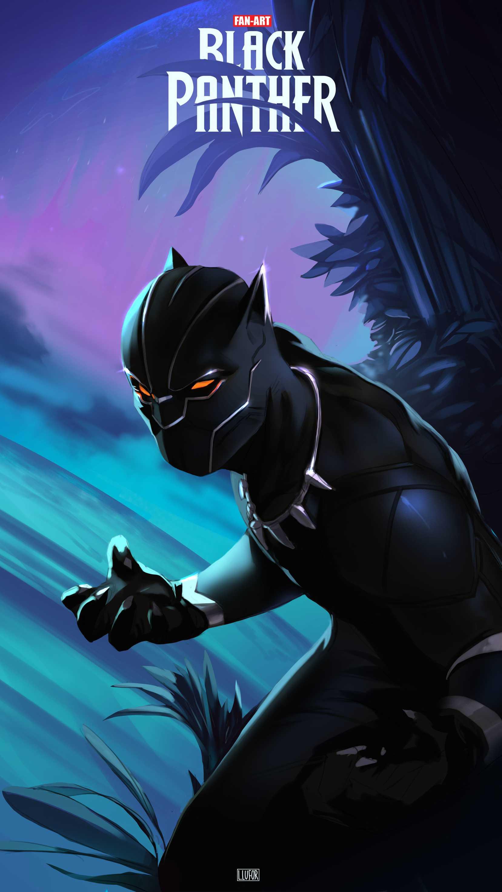 Black Panther Fan Art iPhone Wallpaper