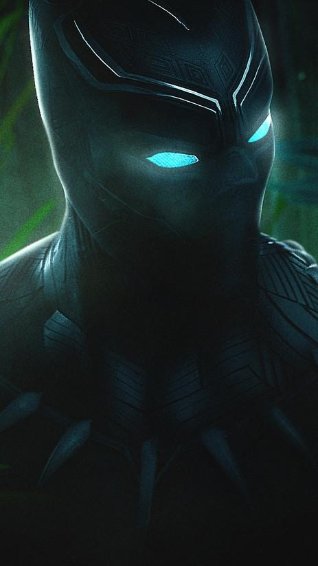 Black Panther Glowing Eyes iPhone Wallpaper