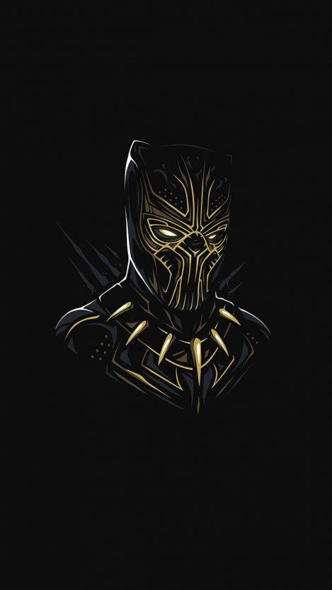 Black Panther Killmonger Minimal iPhone Wallpaper