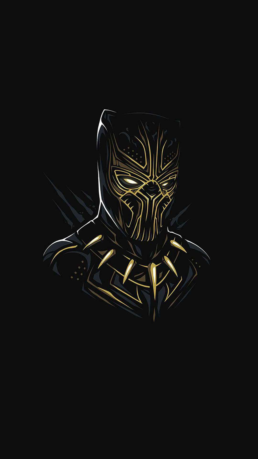 Black Panther Killmonger Minimal iPhone Wallpaper
