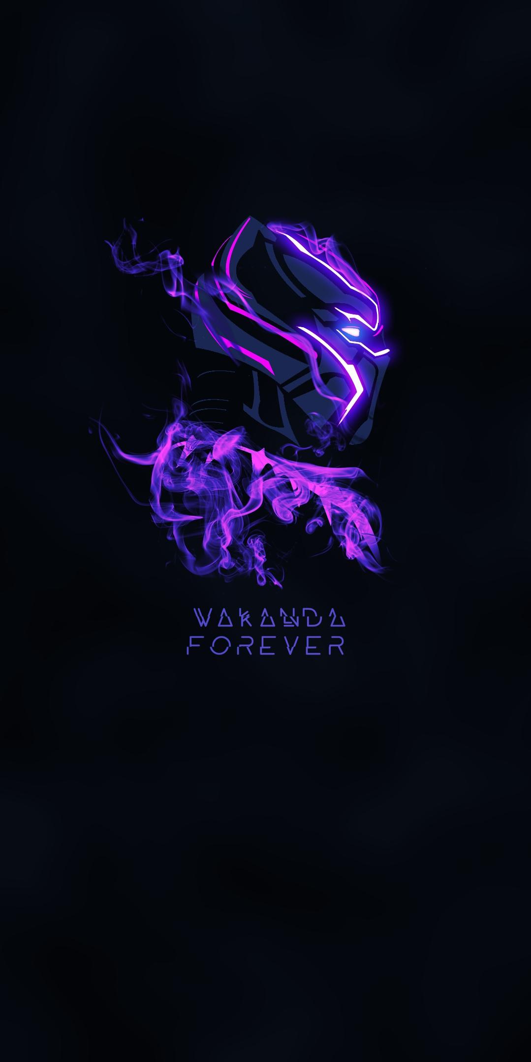 Black Panther Purple Glow iPhone Wallpaper