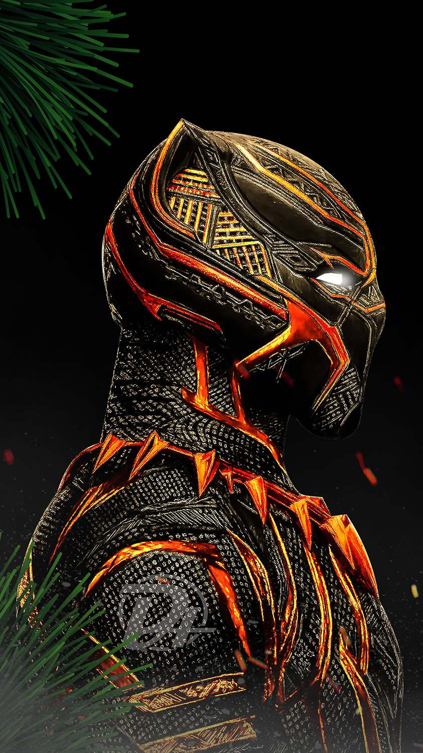 Black Panther Red Suit iPhone Wallpaper