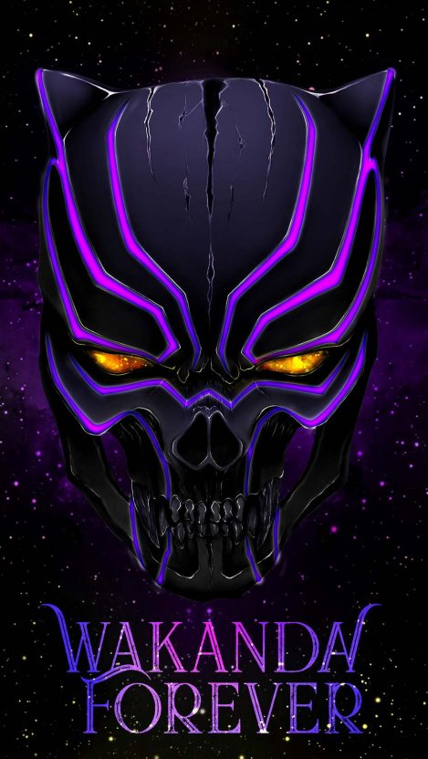 Black Panther Skull Iphone Wallpaper