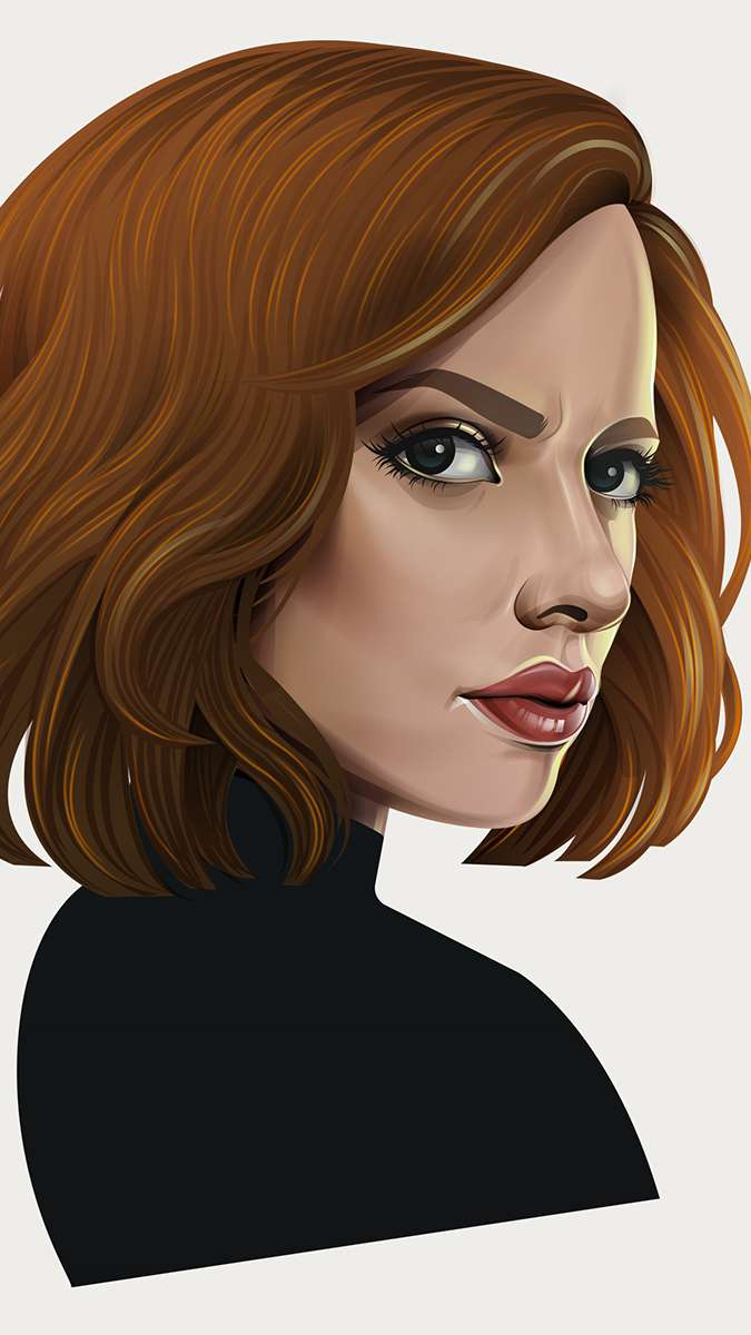 Black Widow Avengers iPhone Wallpaper