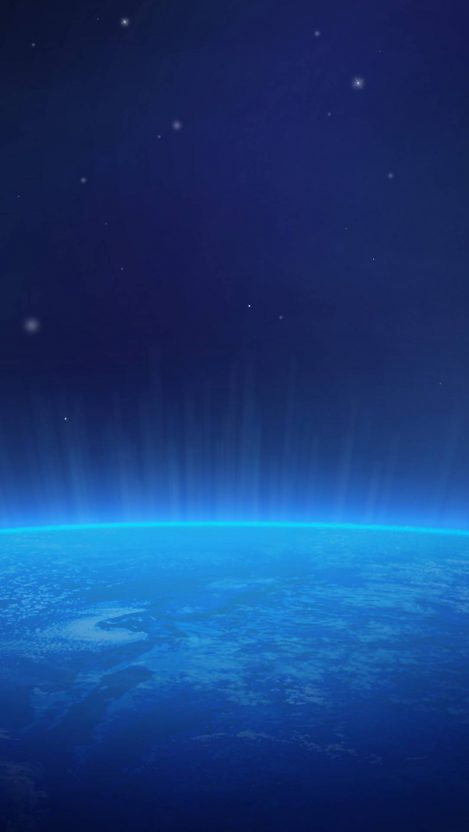 Blue Earth iPhone Wallpaper