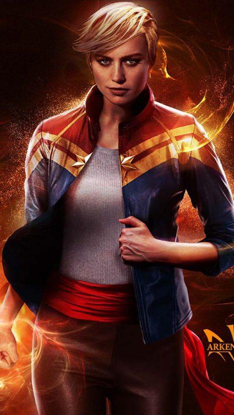 Brie Larson Captain Marvel Movie Iphone Wallpaper