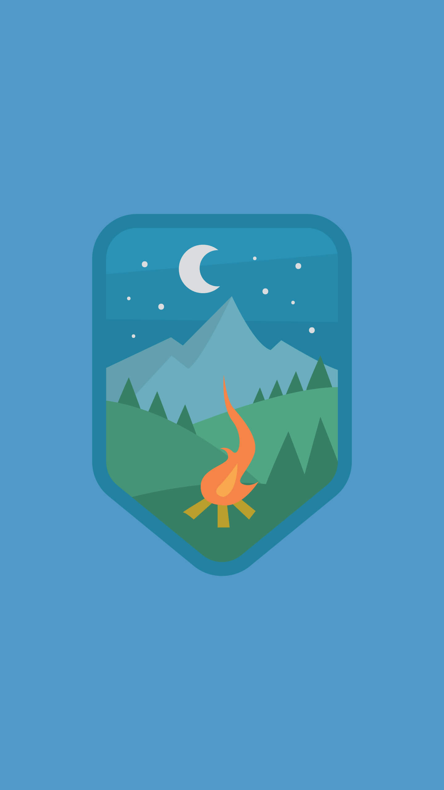 Campfire badge iPhone Wallpaper