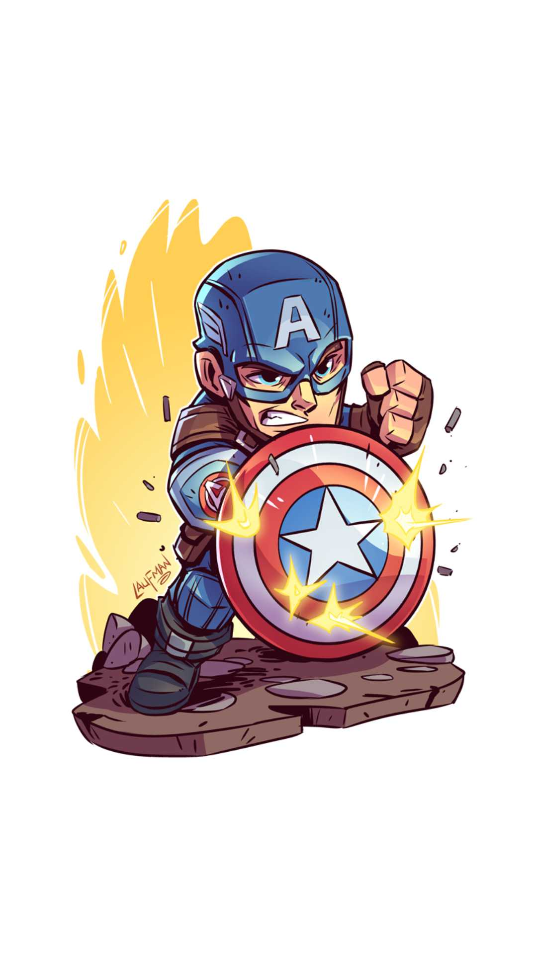 Captain America Minimal Cute iPhone Wallpaper
