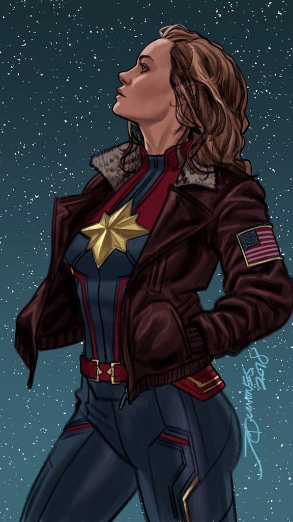 Captain Marvel Comic iPhone Wallpaper