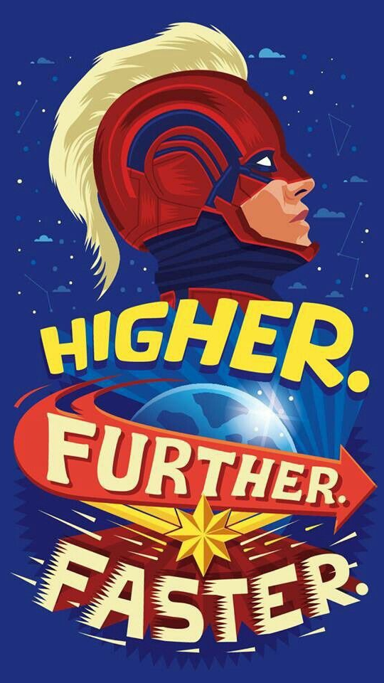 Captain Marvel Quote iPhone Wallpaper