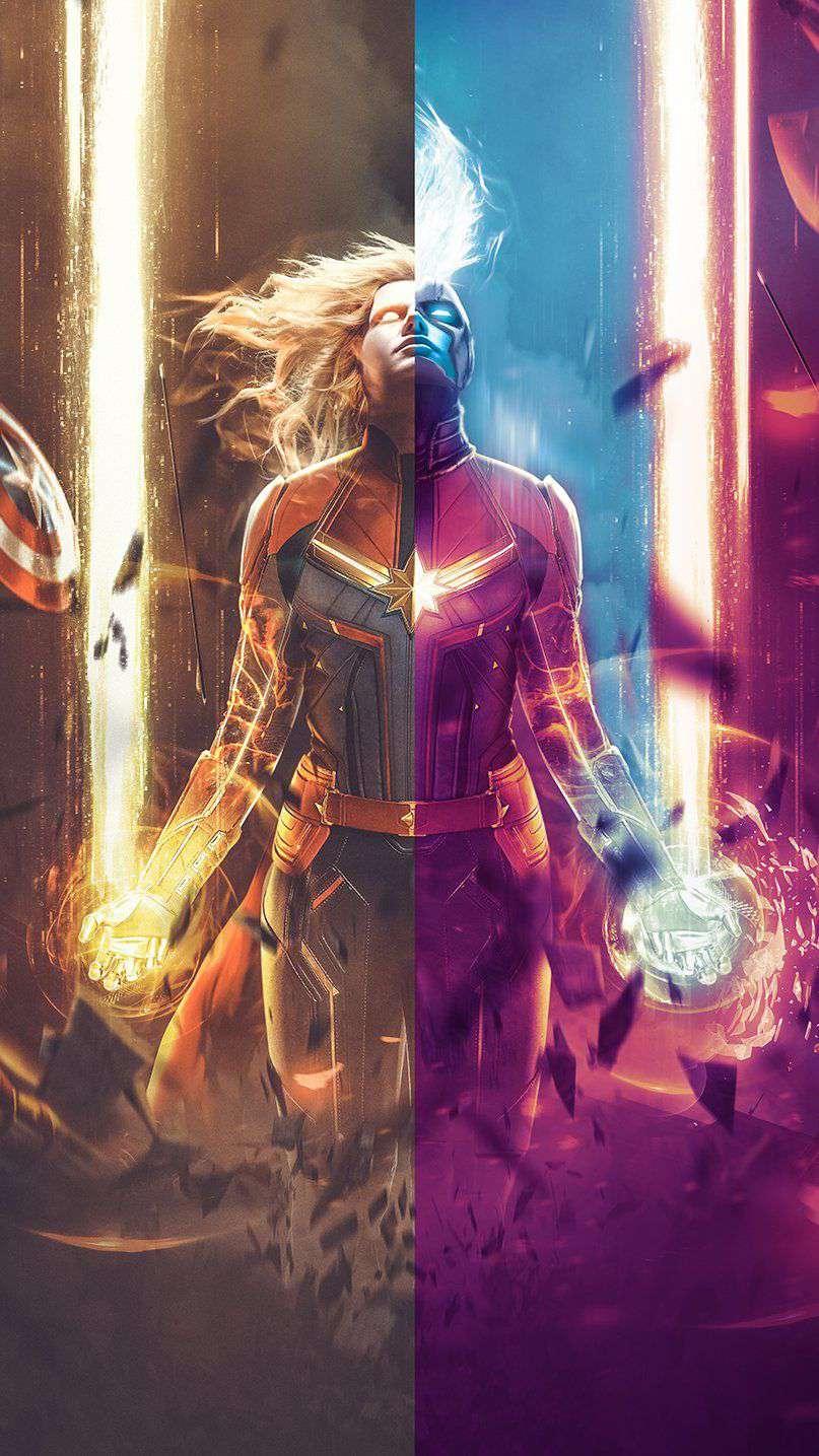 Captain Marvel Wallpaper - iPhone Wallpapers : iPhone ...
