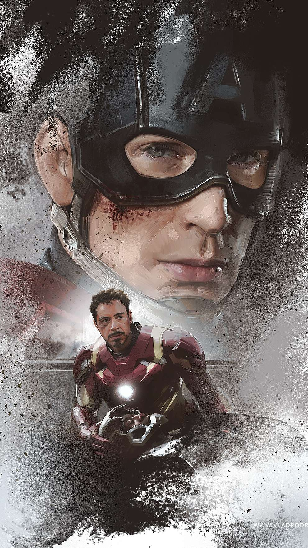 Captain and Tony iPhone Wallpaper