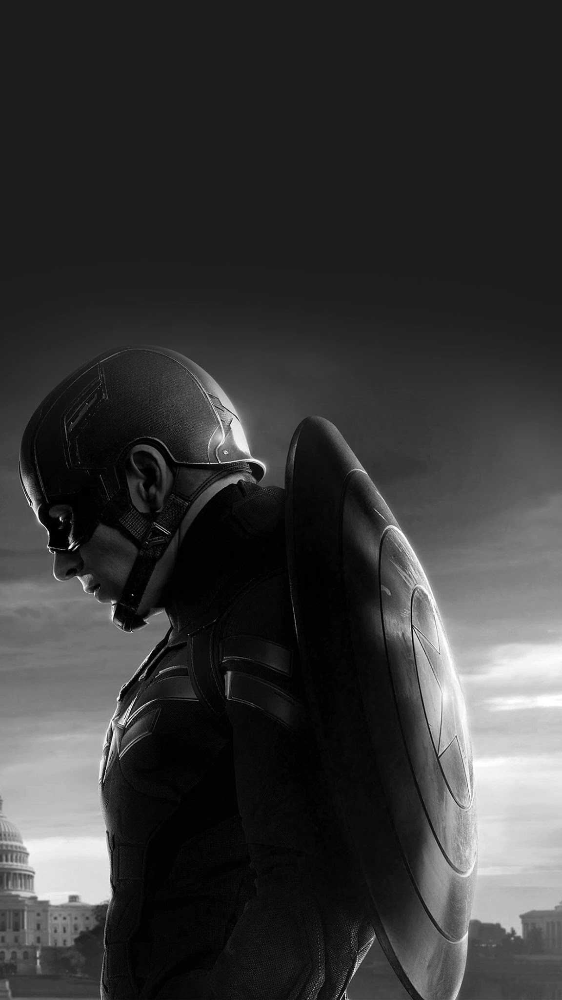Captain with Shield iPhone Wallpaper