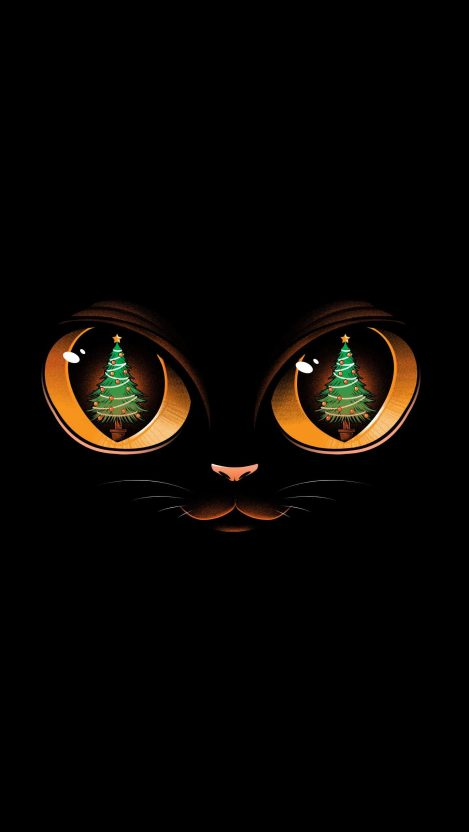 Christmas Kitty iPhone Wallpaper