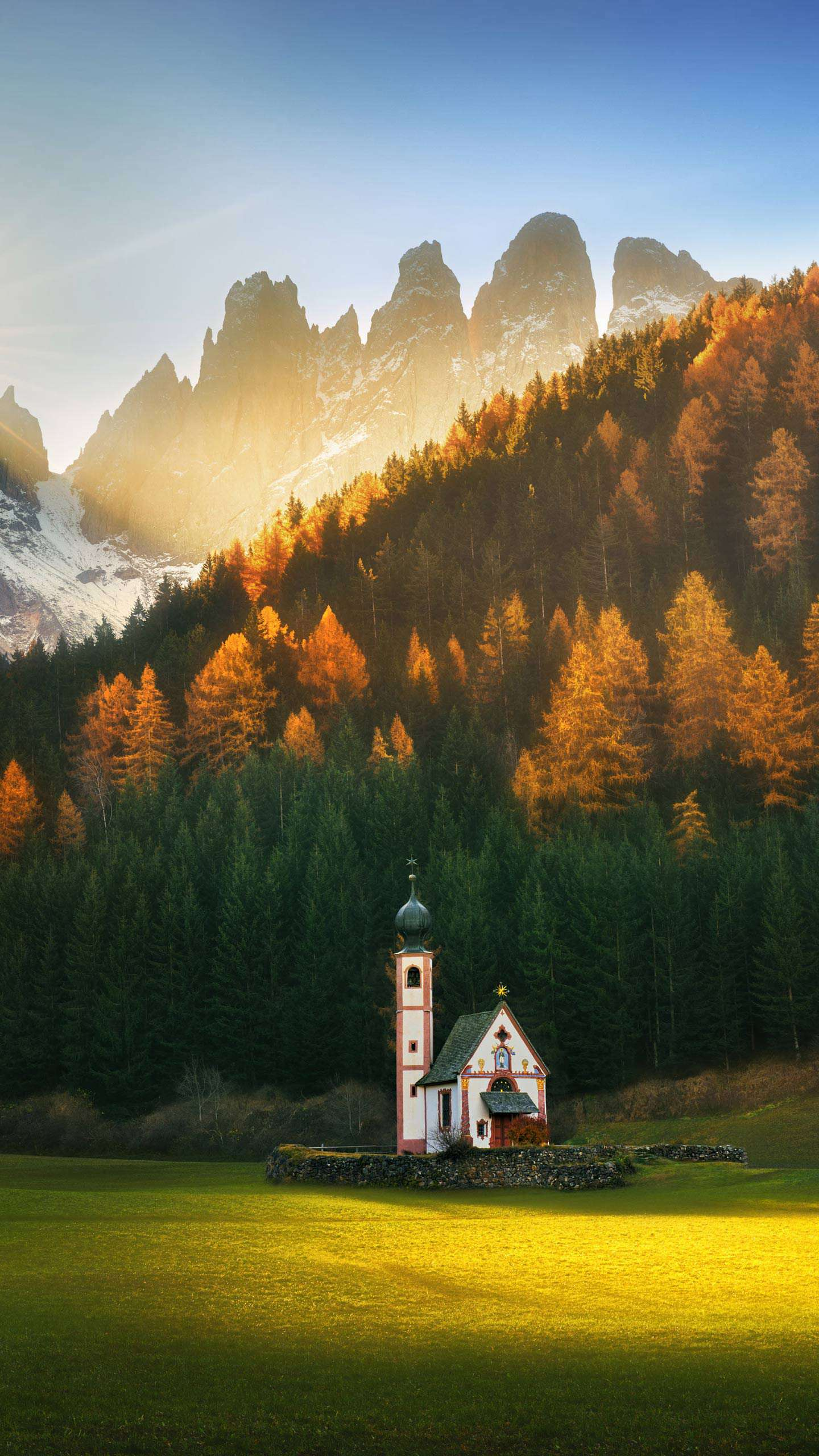 Church in Nature iPhone Wallpaper