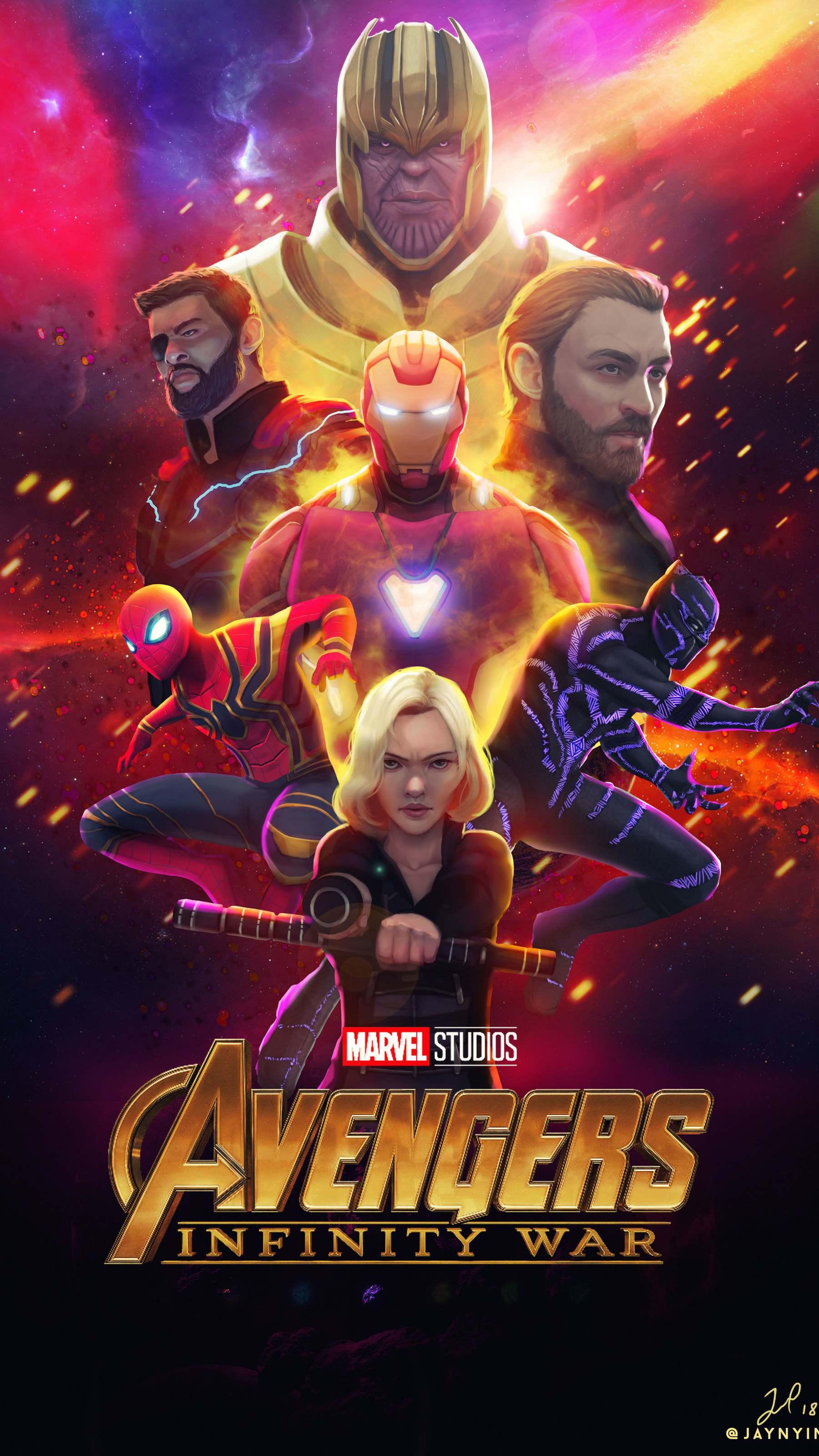 Creative Arts Avengers Poster iPhone Wallpaper