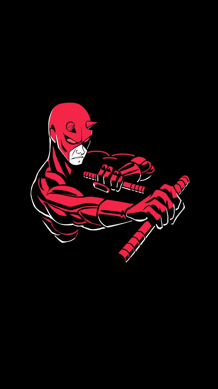 Daredevil Minimal iPhone Wallpaper