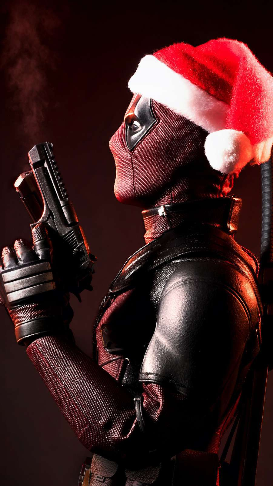 Deadpool Christmas iPhone Wallpaper 1
