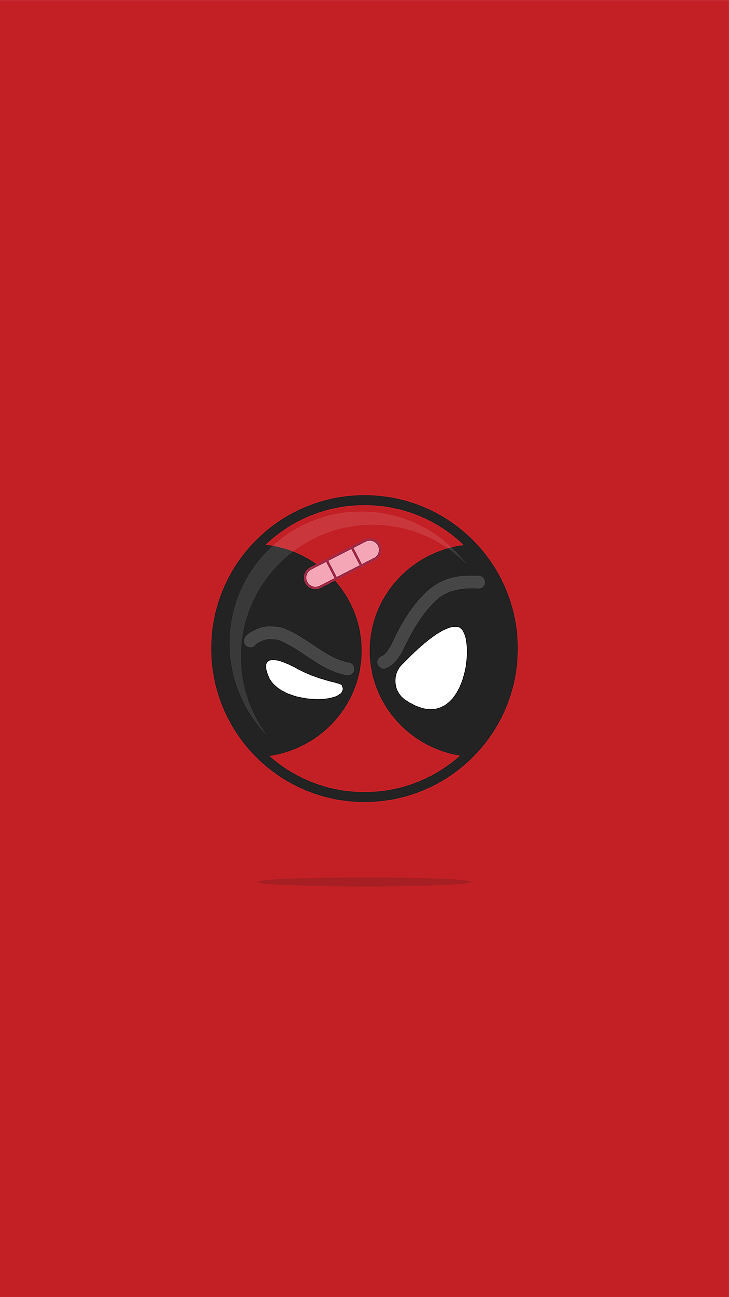 Deadpool Minimal iPhone Wallpaper