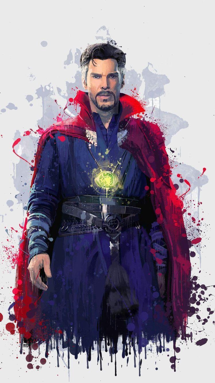 Doctor Strange Paint Artwork iPhone Wallpaper