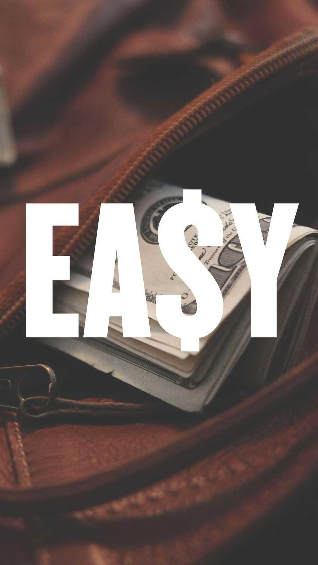 Easy Money iPhone Wallpaper